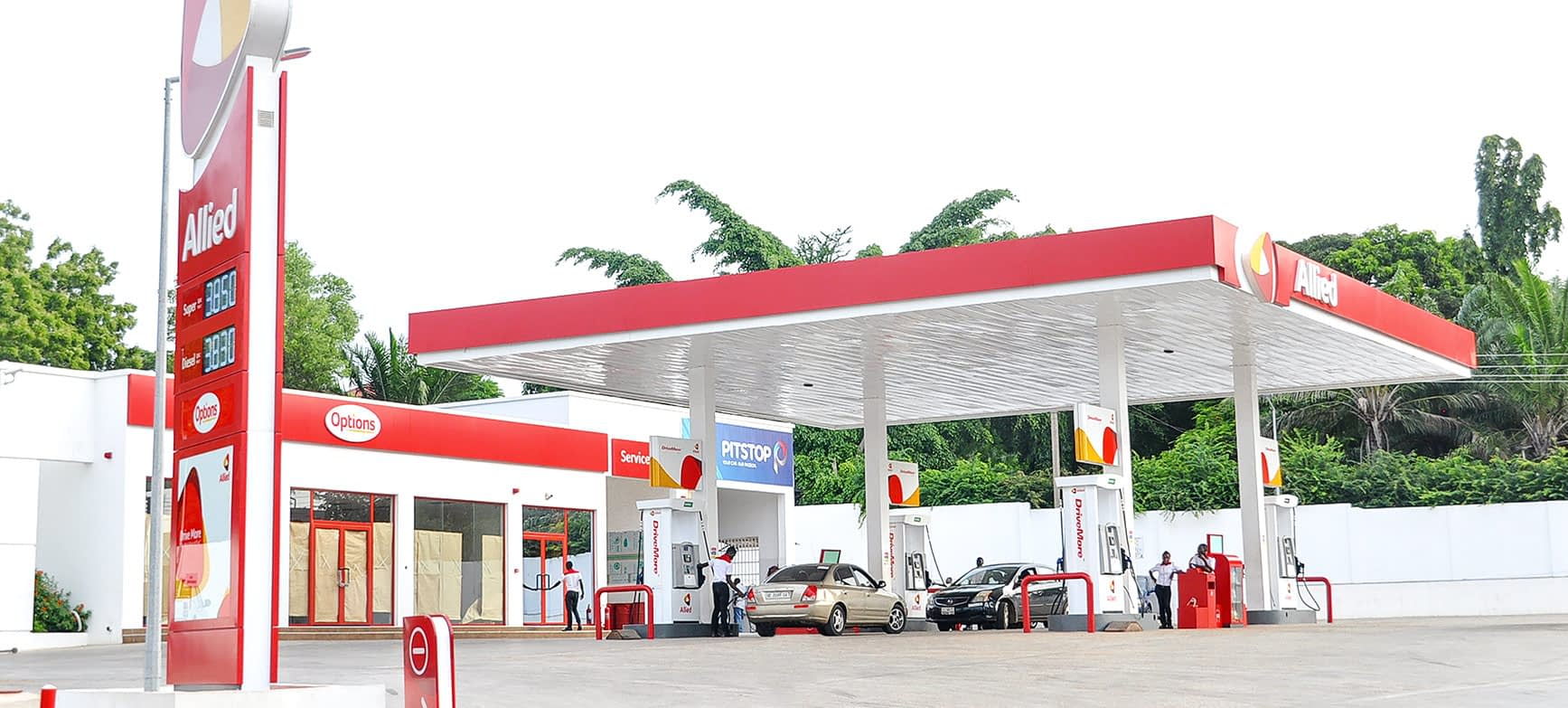 petroleum canopies and tank