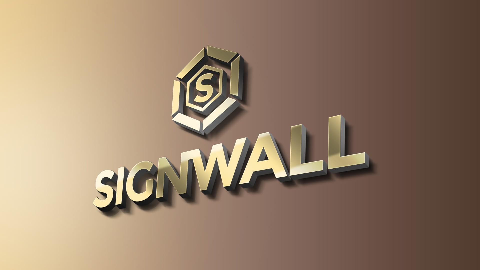 3D signages installations